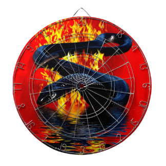 Year of the Snake Black Snake Chinese New Year Dartboard With Darts