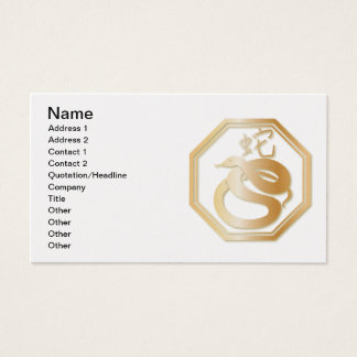 Year of the Snake Business Card