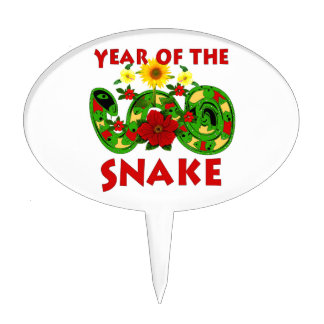 Year Of The Snake Cake Pick