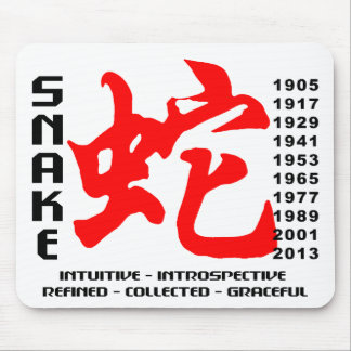Year of The Snake Characteristics Mouse Pad