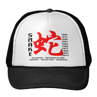 Year of The Snake Characteristics Trucker Hat