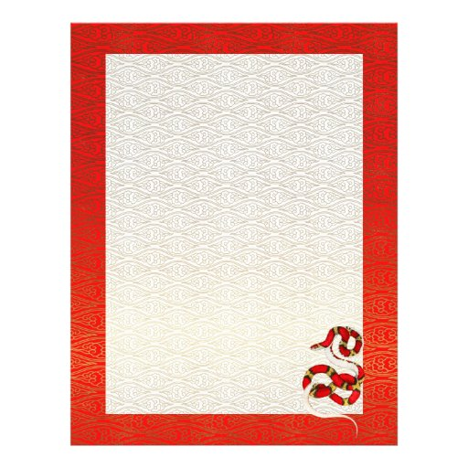 Year of the Snake Chinese New Year Letterhead