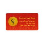 Year of the Snake Chinese Zodiac Address Labels