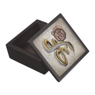 Year of the Snake Chinese Zodiac Animal Art Premium Jewelry Box