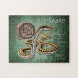 Year of the Snake Chinese Zodiac Animal Art Puzzles