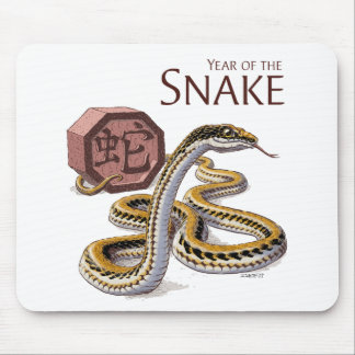 Year of the Snake Chinese Zodiac Art Mouse Pad
