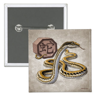 Year of the Snake Chinese Zodiac Button