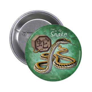 Year of the Snake Chinese Zodiac Pinback Buttons