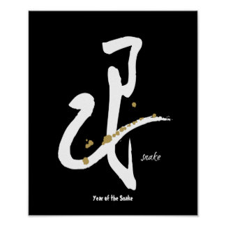 Year of the Snake - Chinese Zodiac Poster