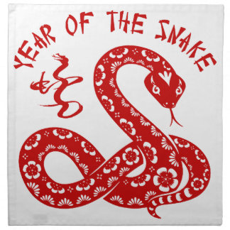 Year of The Snake Cloth Napkin