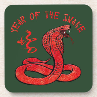Year Of The Snake Beverage Coasters