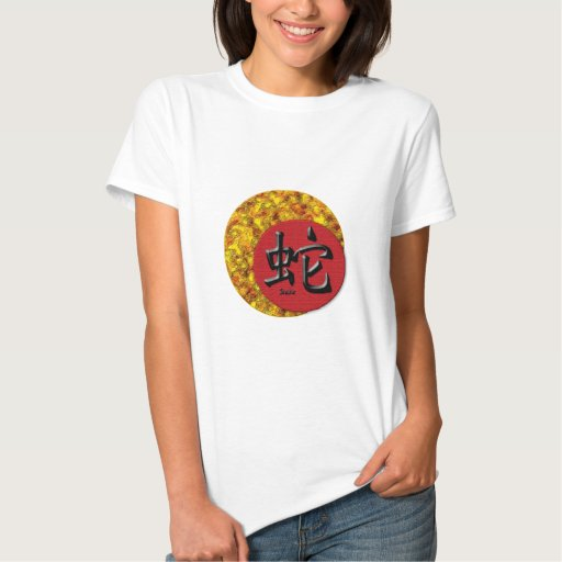 Year of the Snake: Gold and Red T-Shirt
