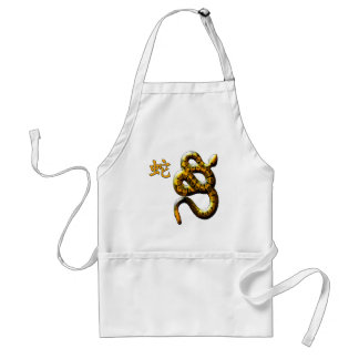 Year of the Snake in Red and Gold Adult Apron
