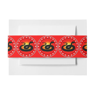 Year of the Snake Invitation Belly Band