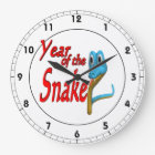 Year Of The Snake Large Clock
