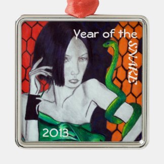 Year of the Snake Metal Ornament