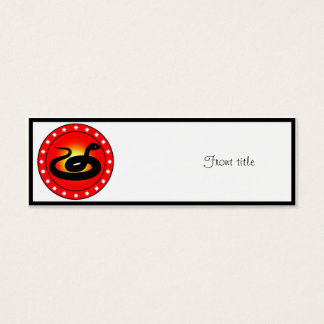 Year of the Snake Mini Business Card