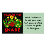 Year Of The Snake Photo Card