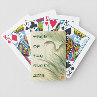Year of the Snake playing cards