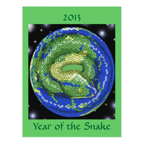 Year of the Snake Postcard Sales 3844