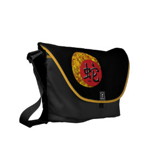 Year of the Snake : Red and Gold Messenger Bag