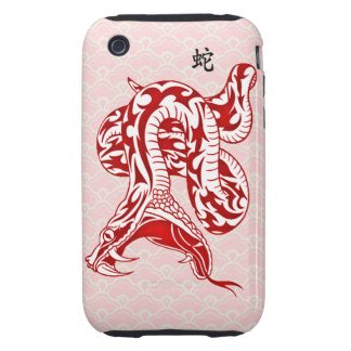 Year of the Snake (Red) iPhone 3 Tough Cases