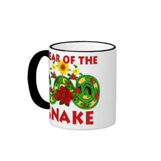 Year Of The Snake Ringer Coffee Mug