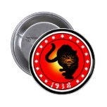 Year of the Tiger 1938 Buttons