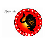Year of the Tiger 1962 Business Cards