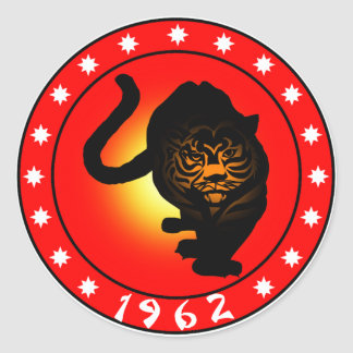 Year of the Tiger 1962 Classic Round Sticker