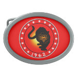 Year of the Tiger 1962 Oval Belt Buckle