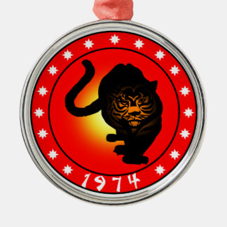 Year of the Tiger 1974 Metal Ornament