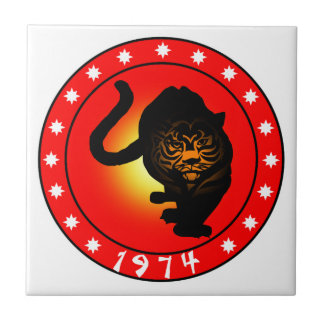 Year of the Tiger 1974 Tile