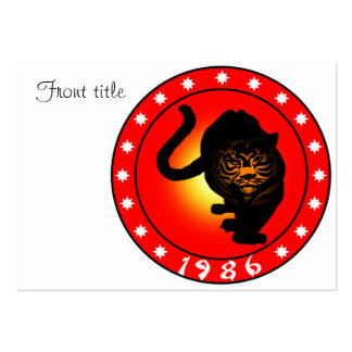 Year of the Tiger 1986 Large Business Cards (Pack Of 100)