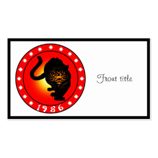 Year of the Tiger 1986 Double-Sided Standard Business Cards (Pack Of 100)