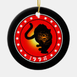 Year of the Tiger 1998 Ceramic Ornament