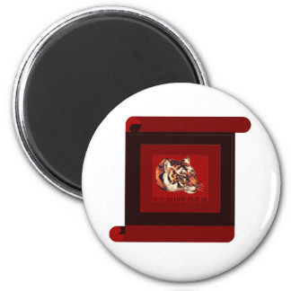 Year of the tiger 2010 2 inch round magnet