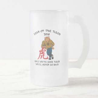Year of The Tiger 2010 Men's Frosted Glass Beer Mug