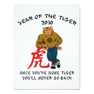 Year of The Tiger 2010 Men's 4.25x5.5 Paper Invitation Card