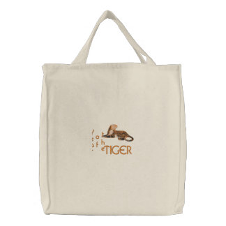Year of the Tiger Canvas Shopping Bag Embroidered