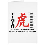 Year of The Tiger Chinese Astrology Gift Greeting Card