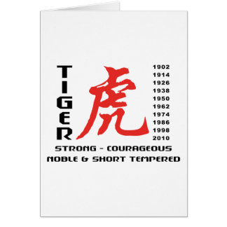 Year of The Tiger Chinese Astrology Gift Card