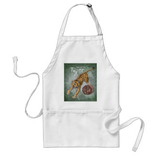 Year of the Tiger Chinese Zodiac Art Adult Apron