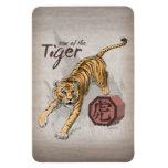 Year of the Tiger Chinese Zodiac Art Rectangular Photo Magnet