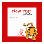Year of the Tiger Cutie Custom Invitations