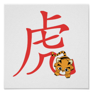 Year of the Tiger Cutie Posters