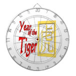 Year Of The Tiger Dartboard With Darts