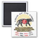 Year of the Tiger Qualities 2 Inch Square Magnet