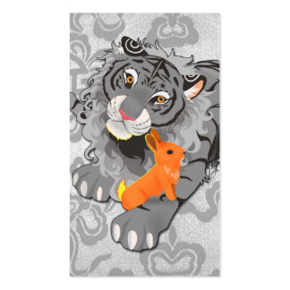 Year of the Tiger Rabbit Business Cards