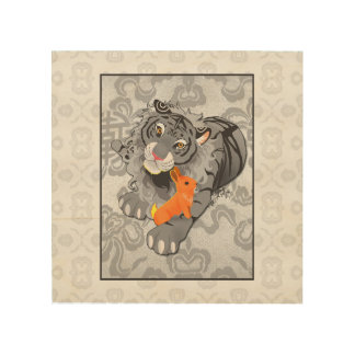 Year of the Tiger / Rabbit Wood Canvas